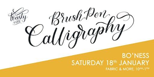 Beginners Brush Pen Calligraphy - Fabric & More, Bo'Ness