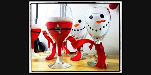 Wine Glass Paint Night - Set of 2 Large Glasses: Make them any way you want