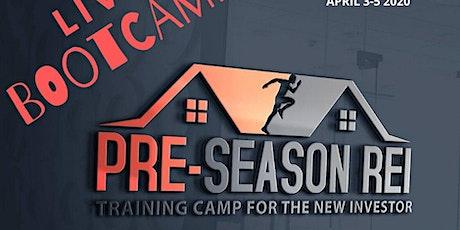 Pre-Season REI Live 3 Day Bootcamp tickets