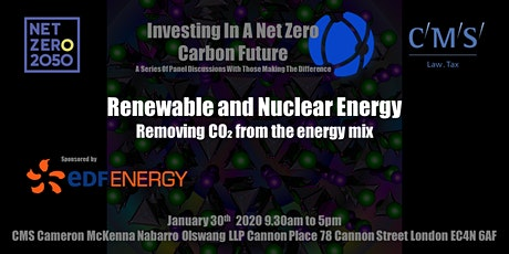 Renewable and Nuclear Energy - Removing CO₂ from the Energy Mix tickets