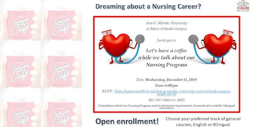 Let's have a coffee while we talk about our Nursing Program