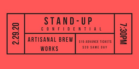 Stand-Up Confidential at Artisanal Brew Works tickets