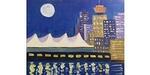 Vancouver Skyline Paint & Sip Night - Snacks Included