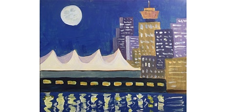 Vancouver Skyline Paint & Sip Night - Snacks Included tickets