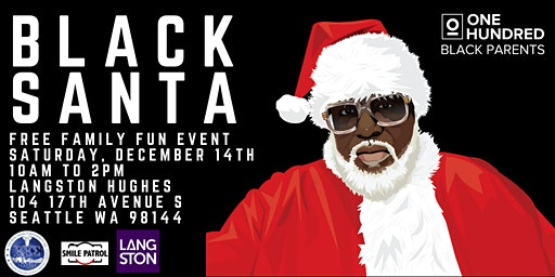 Seattle Black Santa 2019 w/ 100 Black Parents