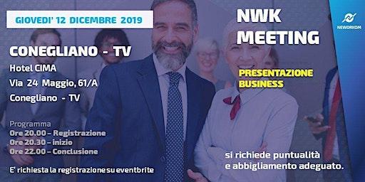 MEETING PRESENTAZIONE BUSINESS - NEWORKOM COMMUNITY -CONEGLIANO (TV)