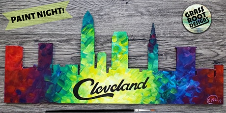 Colorful Cleveland Skyline | Paint Night! tickets