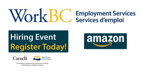 Meet with Amazon about Warehousing job opportunities - WorkBC Cloverdale tickets