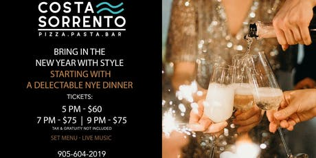New Years Eve Dinner tickets