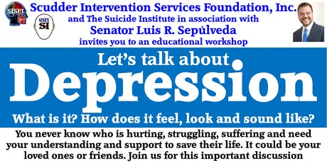 SISFI's Let's Talk About Depression, What is it, How Does It Feel, What Does It Sound Like tickets