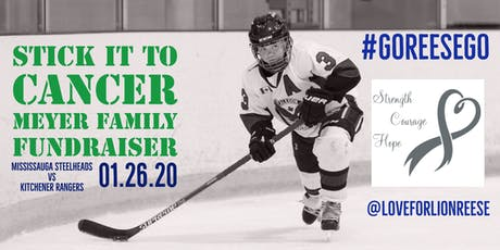 Mississauga Steelheads Fundraiser Game for Reese Meyer tickets