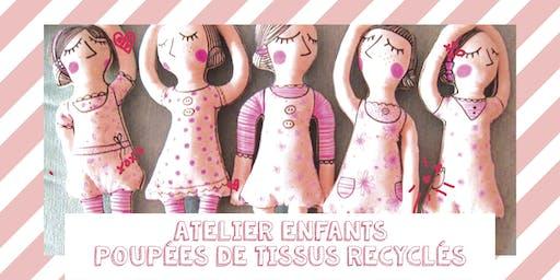 Confection de poupées recyclées