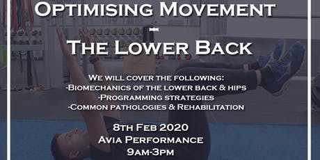 Optimising Movement - The Lower Back tickets