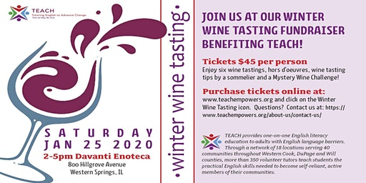 TEACH Winter Wine Tasting Fundraiser
