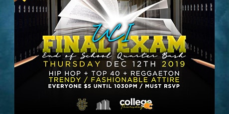 MANSION OC Thurs 18+ /UCI FINAL EXAM -End Of School Party /RSVP $5 til 1030 tickets