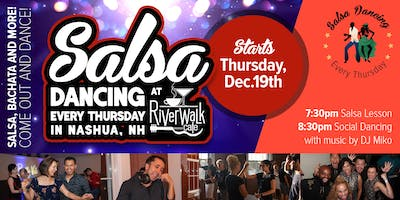 Salsa Dancing at the Riverwalk Cafe - Every Thursday in Nashua, NH