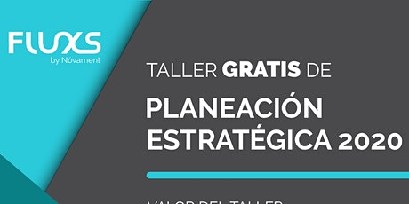 Taller Gratis de Planeación Estratégica 2020 entradas
