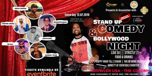 Stand up Comedy & Bollywood Night