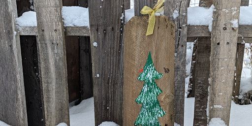 DIY: Snowy Pine Painting on Reclaimed Wood