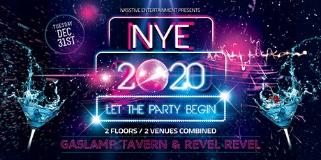 San Diego NYE 2020 Party at Gaslamp Tavern / Revel Revel boletos