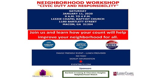 "Neighborhood Workshop ""Civic Duty and Responsibility"