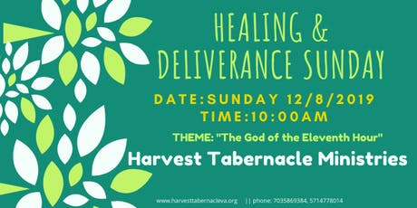 Healing & Deliverance Sunday- Harvest Tabernacle Ministries tickets