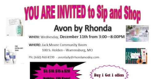 Holiday Sip and Shop with Avon by Rhonda