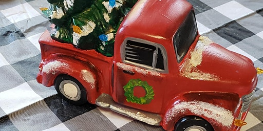 Christmas paint party! Paint your own truck with t