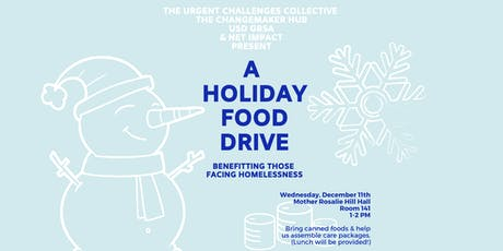 USD Holiday Food Drive & Care Package Workshop tickets