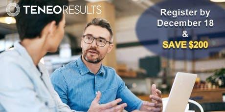 Teneo Results - Purposeful Sales Strategies - Open Sales Training Program - Montreal May 12-13, 2020 (6-month Program) tickets