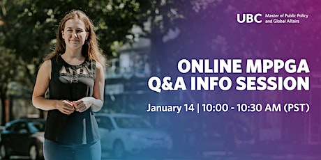 UBC Master of Public Policy and Global Affairs Q&A Info Session tickets