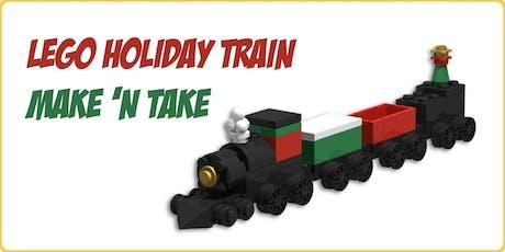 LEGO Holiday Train Make 'n Take tickets