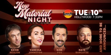 Nate Bargatze, Kevin Nealon, and more - New Material Night tickets
