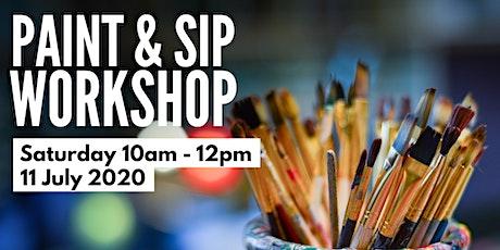 Paint & Sip workshop tickets