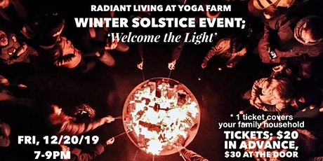 Winter Solstice Event; 'Welcoming the Light' tickets