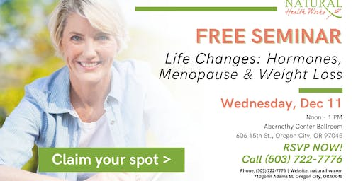 Life Events: Hormones, Menopause And Weight Loss