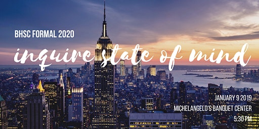 BHSc FORMAL 2020: Inquire State of Mind