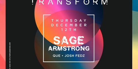 Sage Armstrong at Temple Discounted Guestlist - 12/12/2019 tickets
