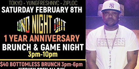 TOKYO presents: U.N.O. Night Out: BRUNCH & GAME NIGHT 1 Year Anniversary tickets