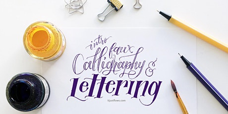 Faux Calligraphy & Lettering: Design Your Own Quote Layout [Vancouver Art Workshop] tickets