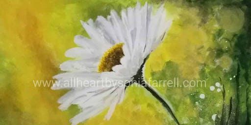 'Daisy Mist' Art Experience  Sonia Farrell: Creative Hearts Art