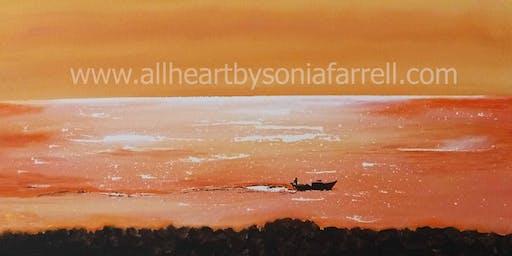 'Liquid Gold' Art Experience with  Sonia Farrell: Creative Hearts Art