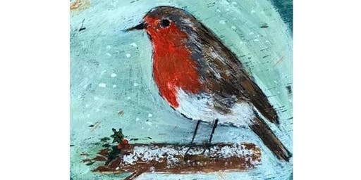 SIP AND PAINT - CHRISTMAS ROBIN @ The New Crown