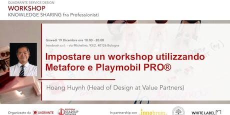 Impostare un workshop utilizzando Metafore e Playmobil PRO biglietti
