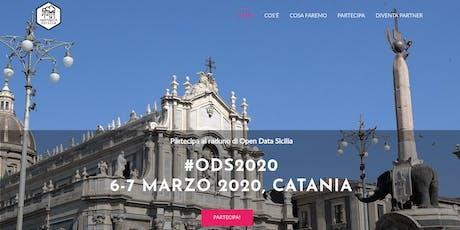 #ODS2020   OpenDataSicilia 2020 / Catania, 6-7 Marzo 2020 biglietti