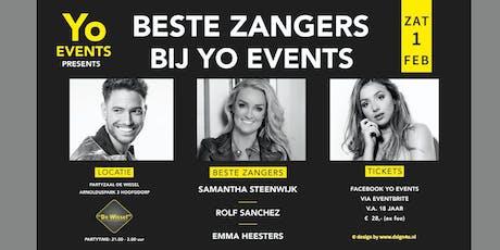Beste Zangers Bij Yo Events tickets