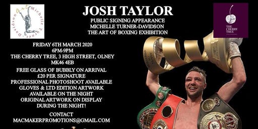"""Public Signing With Josh Taylor & """"The Art of Boxing"""" Exhibition"""