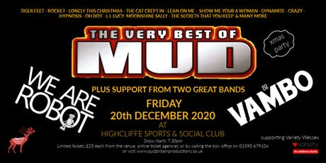 Christmas 70's Retro Party with Mud, We Are Robot and Vambo hosted by DJ David 'Diddy' Hamilton tickets