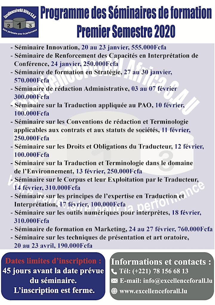 Séminaire de formation en traduction et interprétation image