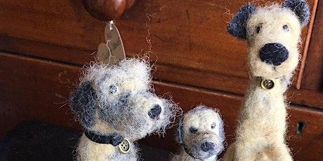 NEEDLE FELTED SCRUFFY DOG 4 tickets